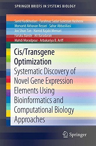 Cis/Transgene Optimization: Systematic Discovery of Novel Gene Expression Elements Using Bioinformatics and Computational Biology Approaches (SpringerBriefs in Systems Biology)