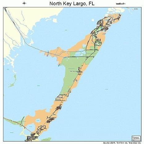 Florida Road Map Atlas.Amazon Com Large Street Road Map Of North Key Largo Florida Fl