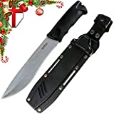 Grand Way Tactical Knife – Survival Fixed Blade Knife – Best Outdoor Military Knives for Camping Bushcraft or Self Defense – Large Stainless Steel Blade Full Tang Handle Tactical Knife 2785 U-PQ Review