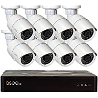 Q-See HD IP Surveillance System 8-Channel HD IP NVR with 2TB Hard Drive, 8-4MP H.265 Security Cameras, Black (QT878-8AP-2)
