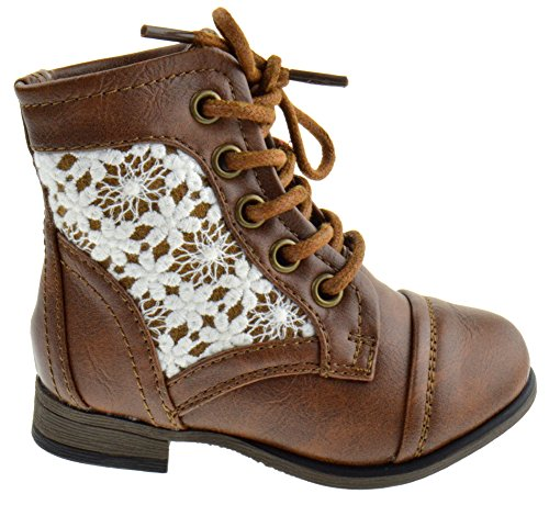Forever Link Chapter 30KA Baby Girls Combat Lace up Boots