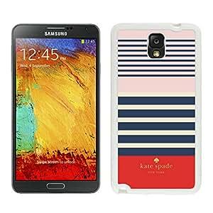 Unique And Beautiful Designed Kate Spade Samsung Galaxy Note 3 N900A N900V N900P N900T White Phone Case Cover 001