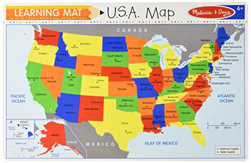 Melissa & Doug The United States Write-A-Mat placemat ()