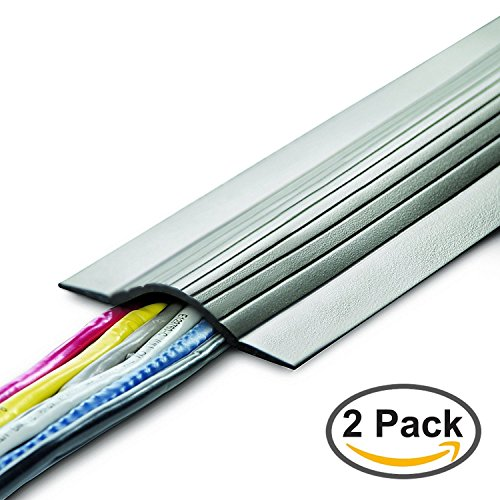 UT Wire UTW-CPL5-GY 5' Cable Blanket Low Profile Cord Cover and Protector, Grey (Pack of - Wire Gray Duct