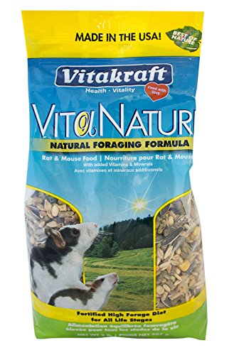 - Vitakraft Natural High Diversity Formula Rat And Mouse Food (1 Pouch), 2 Lb