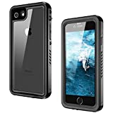 iPhone 8 Waterproof Case, iPhone 7 Waterproof Case, GOCOOL IP68 Clear Sound Built-in Screen Protector Full Sealed Shell Case iPhone 7/8, Waterproof, Shockproof, Dirtproof, Snowproof, Black