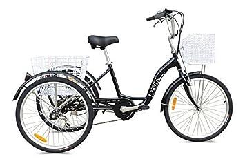 Jorvik Triciclo para adultos, ligero, de aluminio, con grandes ruedas de 26 pulgadas, varios colores disponibles, hombre mujer, All Black: Amazon.es: ...