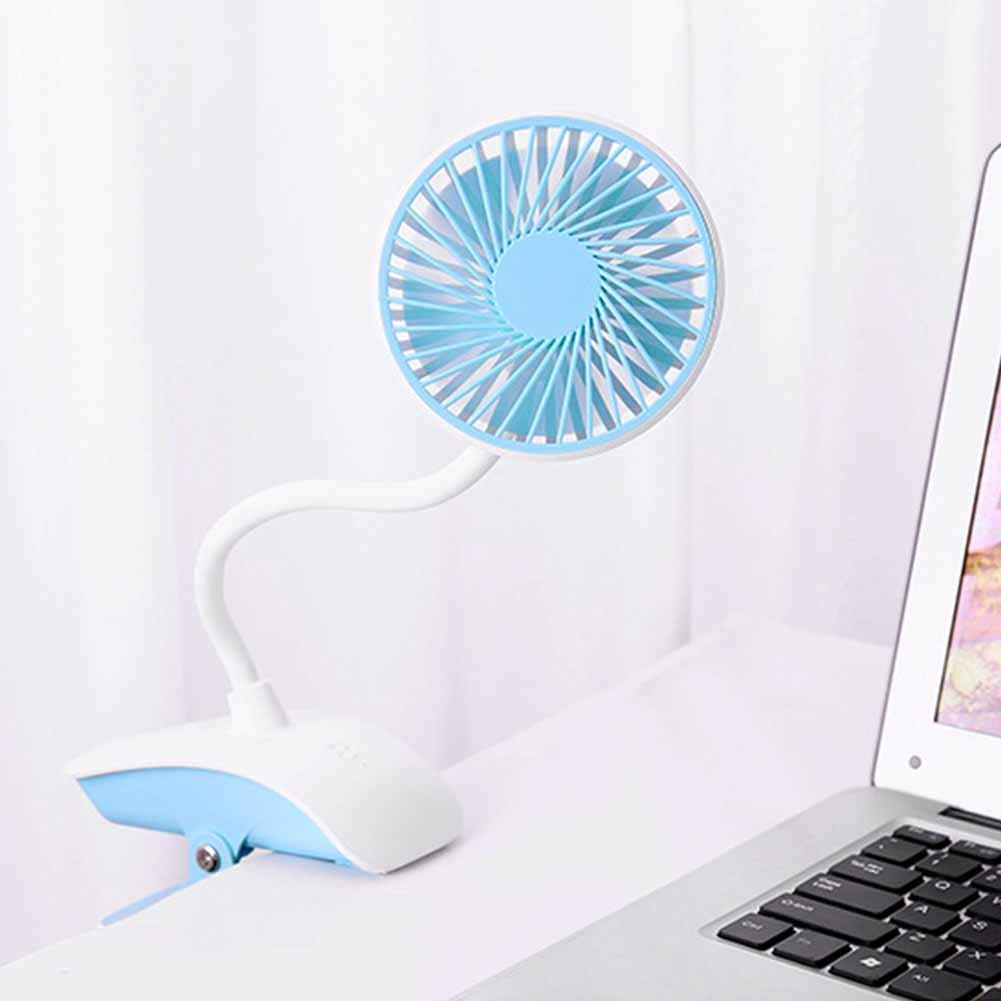 Mini USB Fan,Portable 3 Speeds Adjustable Clip Fan,Personal Desk Electric Fans with Rechargeable Battery Cooling Oscillating Fans for Bedroom Office Outdoor Travel Home, Camping, Office and Travel by Pveath (Image #3)