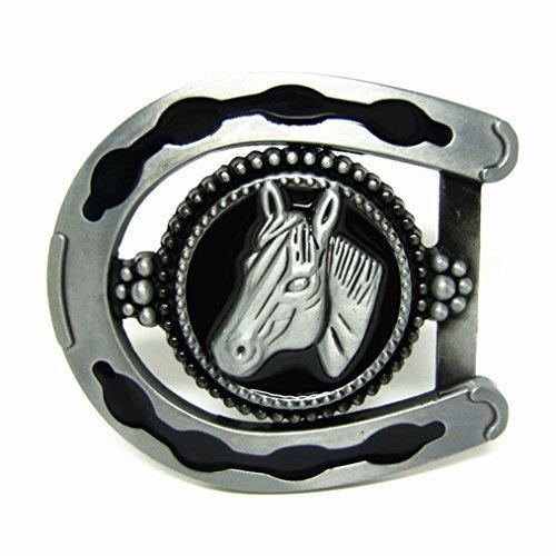 MASOP 3D Cool Horseshoe Horse Head Belts Buckles Mens Metal Animal Vintage from MASOP VOGU
