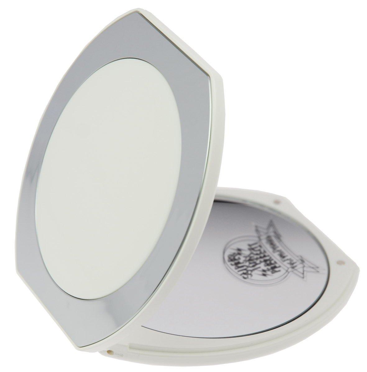 Fantasia Taschenspiegel, mit 10-facher Vergrößerung, Maße: 10 x 10.5 cm weiß/silber 44061