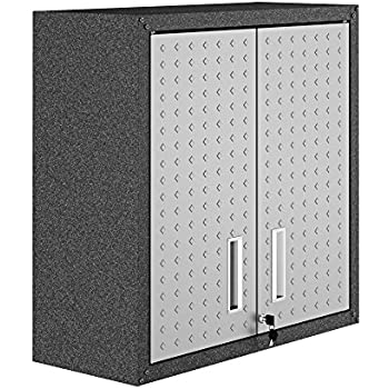 Amazon Com Homak 2 Door Wall Cabinet With 2 Shelves