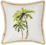 Elise & James Home Palm Tree Decorative Pillow One Size Ivory/Green