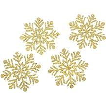 Kate Aspen Glitter Snowflake Felt Coasters (Set of 4), Gold