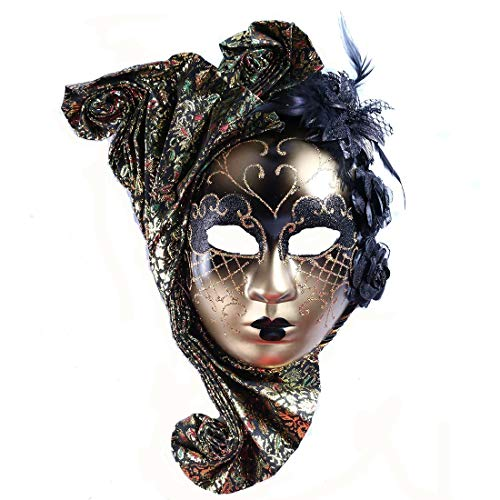 YUFENG Jester Venetian Mask Masquerade Mardi Gras Wall Decorative Art Collection]()