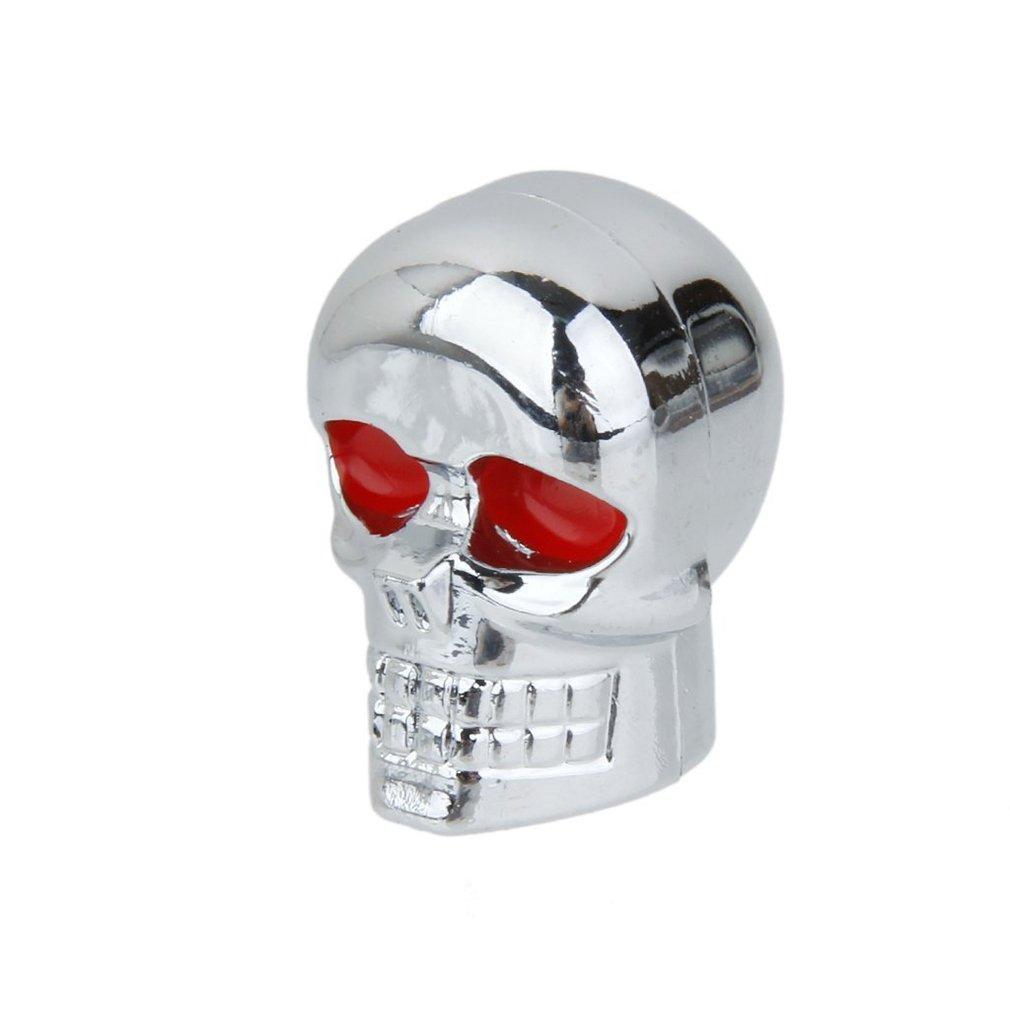 10er Pack Totenkopf Skull 25mm Schrauben Metall Chrom Motorrad ...