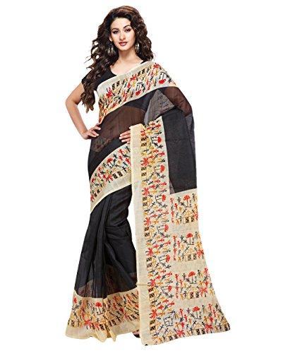 Trendz Bhagalpuri Cotton Silk Saree