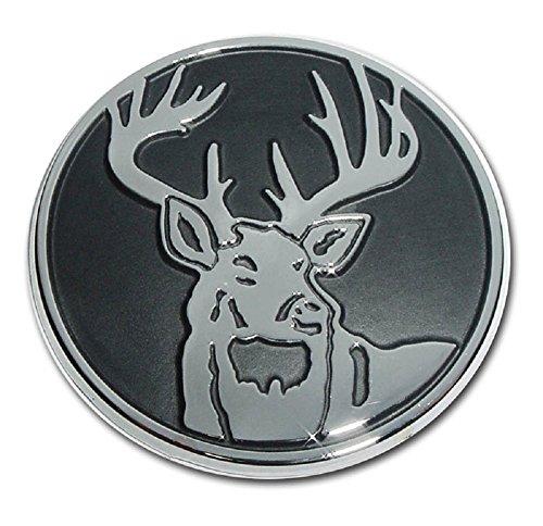 Buck Hunter Deer Hunting Premium Chrome Metal Car Truck Motorcycle Emblem (Deer Emblem)