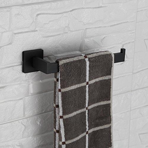Bathfirst SUS 304 Stainless Steel Towel Holder Hand Towel Bar Hanging Towel Hanger Bathroom accessories Wall Mounted elegant black by Bathfirst (Image #1)