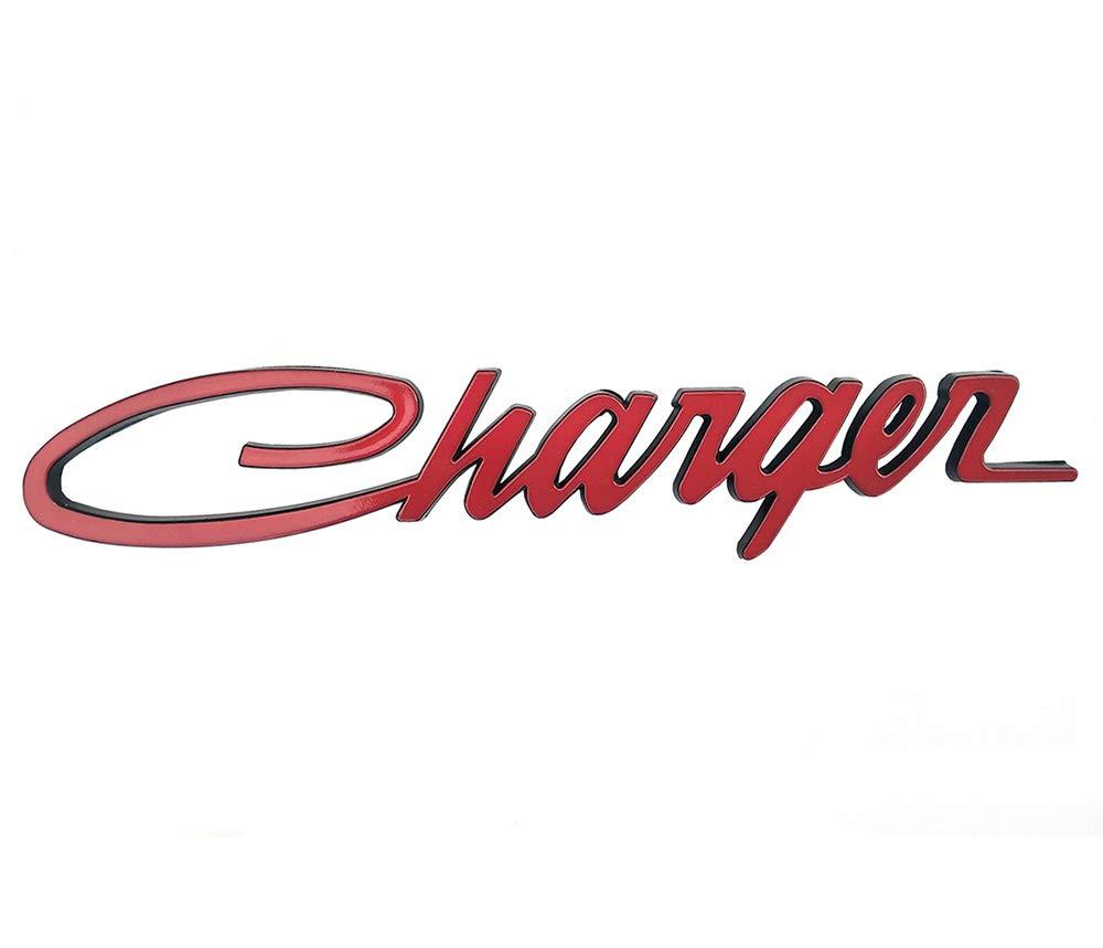 Yuauto 2Pcs Charger Nameplate Emblems Badges Decal for Dodge Charger Chrysler Mopar Finish Black