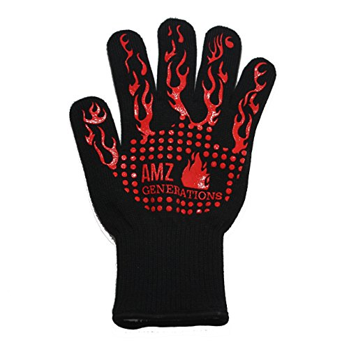 Extreme Heat Resistant Gloves and Oven Mitts, 932°F (EN407) 14 Inches Extra Long and Thick for Better Forearm Protection BBQ Gloves for Grilling, Cooking, Fireplace, Barbecue, Hot Pot (Charbroil Outdoor Fireplace)
