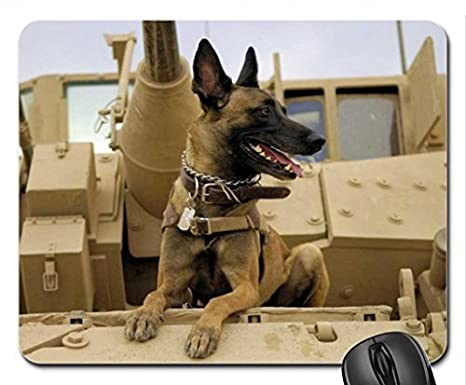 Dog In Army German Shepherd Mouse Pad Mousepad Dogs Mouse Pad