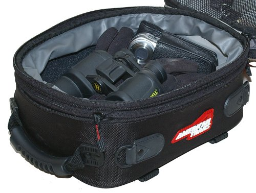 Expandable Magnetic Motorcycle Tank Bag w// Rain Cover /& Map Window. American Rider