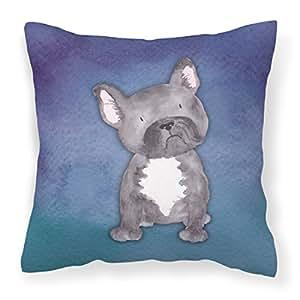 Caroline tesoros del bb7395pw1414Watercolor Bulldog Francés al aire libre lienzo almohada, multicolor