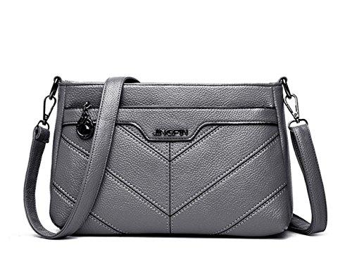 Shoppers Shoulder And Shoulder Bags Handbags Women Handbags Bowling Deerword Gray Fekete