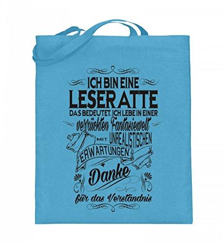 Shirtee HV2RKMYB_XT003_38cm_42cm_5739 - Bolso de tela de algodón para mujer Azul azul 38cm-42cm Azul Claro