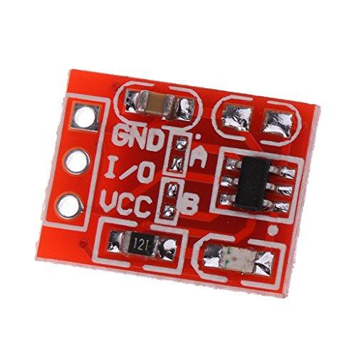 perfk TTP223タッチキーモジュールの容量性設定可能セルフロック/ロック解除スイッチ