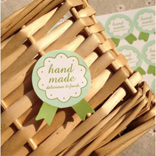 (Paper Sandwich - 150pcs 10sheets Diy Green Hand Made Quot Handmade Wrapping Paper Seal Stickers Bread Children - Decorations Party Party Decorations Bread Gift Green Bouquet Paper)