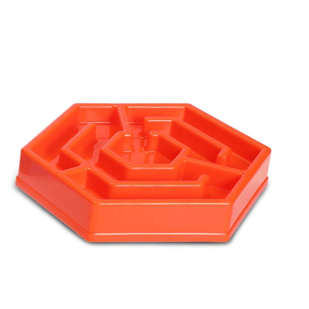 A WU-pet supplies Pet Bowl Slow Food Bowl Non-Slip Anti-Smashing Food Bowl Cat Bowl Dog Bowl, A