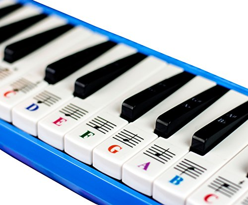 Piano Stickers for 32 Key Melodica-Transparent and Removable with Free Piano Ebook