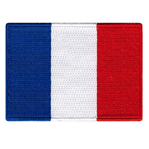 french flag embroidered iron patch
