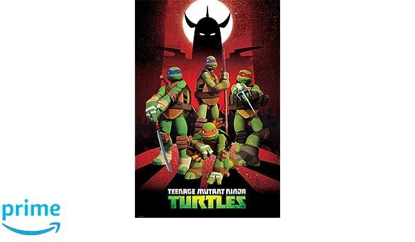 Empire TMNT - Póster de las Tortugas Ninja y la silueta de ...