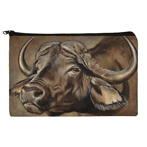 Cape African Buffalo Makeup Cosmetic Bag Organizer Pouch ()