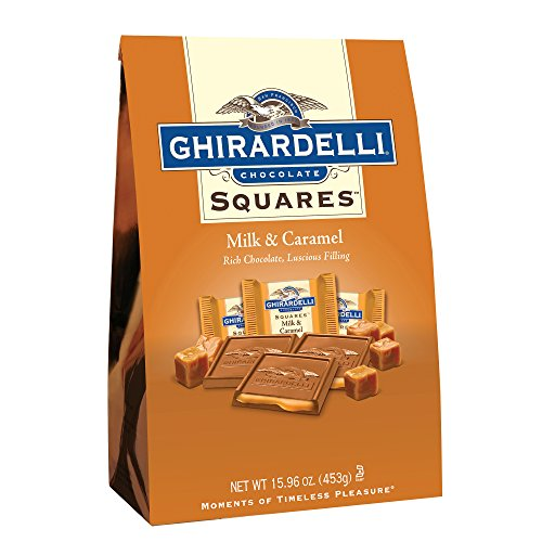Ghirardelli Milk and Caramel Squares XL Bag, 15.96 Ounce by Ghirardelli