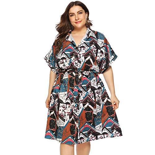 HYIRI Hot Style Casual V Neck Party Dress,Women's Short Sleeve Knee Length Dress Party -