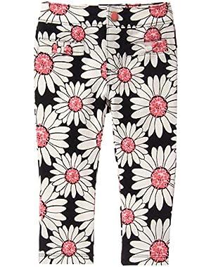 Baby Girls' Daisy Print Ponte Pant