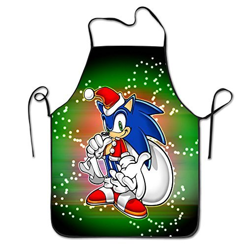 [Christmas Sonic The Hedgehog Durable Bistro Baking Bib Aprons] (Sonic The Hedgehog Tails Costumes)