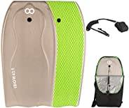 WOOWAVE Bodyboard 42.5-inch Body Board with PE Core,IXPE Surface,HDPE Slick Bottom,Coming with Premium Coiled