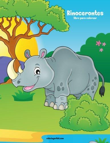 Rinocerontes libro para colorear 1 (Volume 1)  [Snels, Nick] (Tapa Blanda)