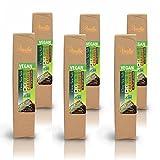 Organic Vegan Gray Salt Caramels in 72% Dark Chocolate, 16.8 ounces (6 packs - 6 pcs/pack)