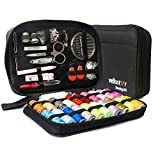 SEWING KIT– Premium Set w/Over 100 Supplies & 24-Color Threads, a Smart Solution for Emergency Clothing Repairs | Great Mini Mending Kit w/Accessories for Travel & Easy to Use for Adults & Beginners