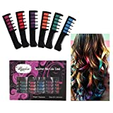 Maydear Temporary Hair Color Comb-Washable Hair Chalk for Hair Dye-Non toxic and Safe for Kids, for Party Fans Cosplay DIY (6-color PACK)
