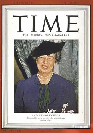 Photo TIME Magazine Cover Anna Eleanor Roosevelt 1939 Photographic Archives