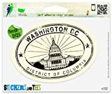 Washington DC Travel Vinyl Car Bumper Window Sticker