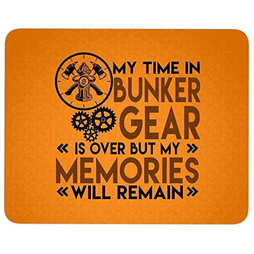 I'm A Firefighter Mouse Pad for Typist Office, My Time in Bunker Gear Quality Comfortable Mouse Pad (Mouse Pad - Orange)