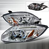 Spec-D Tuning Mitsubishi Eclipse 2006 2007 2008 LED Halo Projector Headlights - Chrome