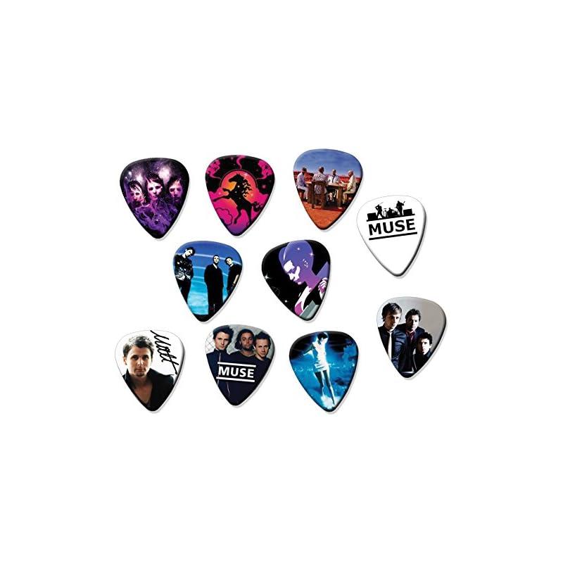 Muse Classic Set of 10 Electric Acoustic Guitar Plectrums